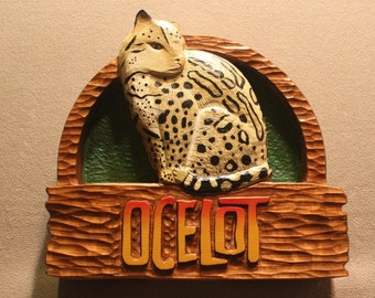 Handmade wood signs   Zoo signs   Animal Signs   Wildlife signs   Custom Carved wooden signs