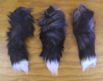 3 Silver Fox Tails