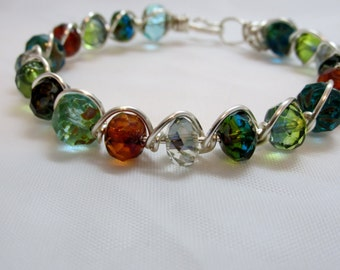 "Simply Beautiful! ""Carnival"" Handmade Bracelet - Free Domestic Shipping!"