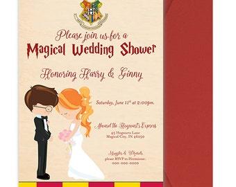 Harry Potter Wedding Shower Invitation   Harry Potter Wedding Shower Invite    Cute Harry Potter Wedding