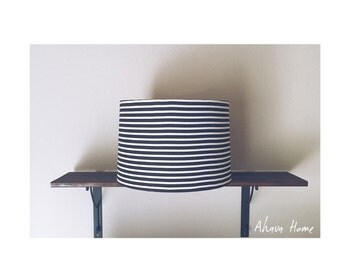SALE Classic Pinned Stripes Drum Shade