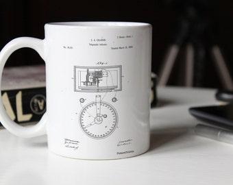 Stock Telegraphic Ticker 1868 Patent Mug, Stock Market, Accounting Gifts, Stock Broker, Home Office Decor, PP0546