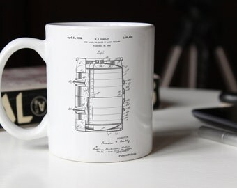 Beer Barrel Patent Mug, Brewing, Bar Mug, Beer Mug, PP0727