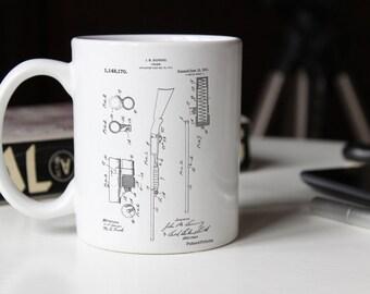 Ithaca Shotgun Patent Mug, Gun Lover, Cabin Decor, Gun Enthusiast, Hunting Gift, PP0074
