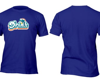 Limited Edition Royal Blue Dolphins Make Me Drink Football Shirt All sizes up to Plus 5x