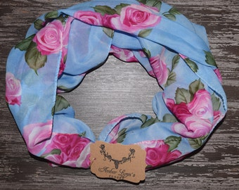 Shabby Chic Infinity scarf Infinity Scarves, Women Scarf, Loop Scarf Woman, Infinity Loop Scarf, Infinity Scarf Woman, large scarf
