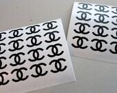 1.5''CHANEL(Set 16) Vinyl Decals .CHANEL logo stickers.
