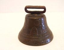 1878 Swiss Cow Bell Saignelegier Chiantel Fondeur Cast Brass