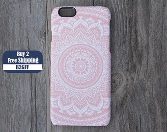 Vintage Pink White Floral iPhone 6/6s Case,iPhone 6/6s Plus Case,iPhone SE/4/5/5c/5s Case,Samsung Galaxy S7/S6 Edge/S6/S5/S4/S3/Note 5/4/3/2