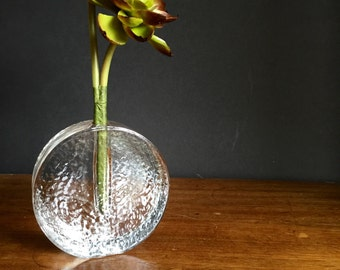 Vintage Bud Vase / Glass Bud Vase / Recycled Glass Bud Vase