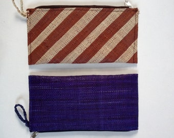 Small Pouch. Wristlet Bag. Raffia Clutch. Zipper Clutch. Small Handbag. Wristlet Pouch. Wristlet Clutch. Small Purse. FREE UK SHIPPING