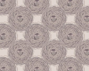 Lewis & Irene Patchwork Quilting Fabric Autumn Fields A115.1 - Harvest mouse nests on grey