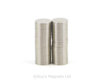 8mm x 0.5mm N52 strong neodymium round circular disk magnets ideal for magnetic card closures GuysMagnets