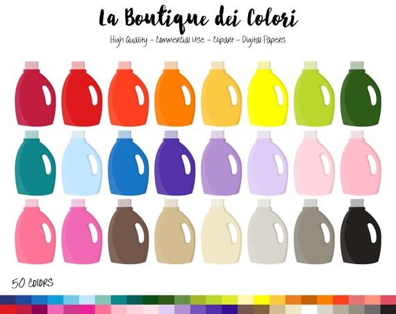 Laundry Detergent Clipart 50 rainbow laundry detergent clip art, cute digital illustrations