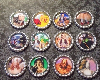 The Wizard of Oz Magnet Set, Dorothy, Tin Man, Cowardly Lion, Scarecrow, Wicked Witch, Home Decor, Novelty, Gift