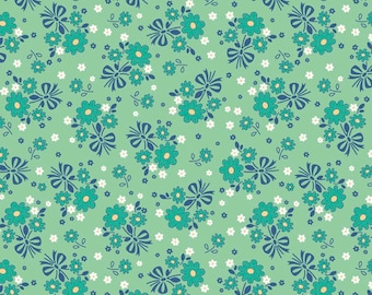 Calico Days Main Mint by Lori Holt of Bee in My Bonnet for Riley Blake, 1/2 yard, C6030-Mint