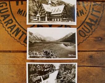 Real Photo Post Cards// Lot of Three//RPPC//Alberta Canada//Prince of Wales//Alberta Canada//