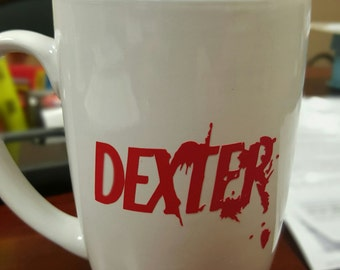 DEXTER Ceramic 14 OZ Mug - Don't tempt my dark passenger