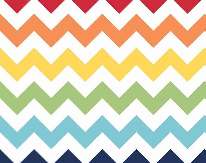 Half Yard Large Chevron - Rainbow Colors - Cotton Quilt Fabric - C330-01 - Riley Blake Designs (W3304)