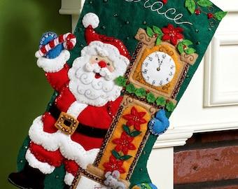 """Bucilla ~ Twas The Night ~ 18"""" Christmas Stocking Kit #86302 DIY"""