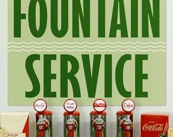 Soda Fountain Service Deco Style Diner Sign - #58638