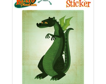 Dragon Short Snouted Greenback Vinyl Sticker - #64480