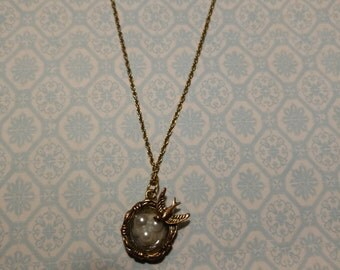 Mother Bird Pendant Necklace
