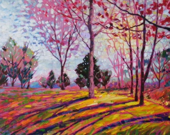 Spring light, original oil painting, 16 x 20 in.