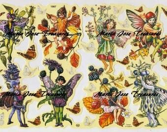 "Vintage Scraps, Cromos ""Fairies"" - Digital Download"