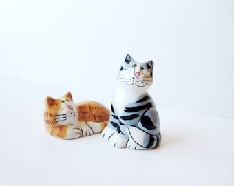 Salt and pepper shakers -Cute cats shakers  Collectible Salt and Pepper Shakers Ceramic Animal Salt and Pepper Sets ,pigs lovers