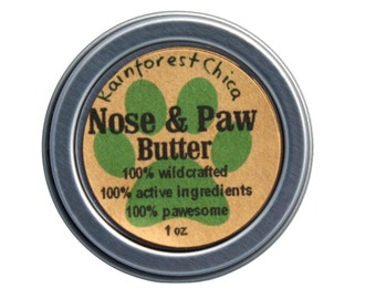 Nose & Paw  Butter - Natural Pet Care - Exotic Rainforest Butters and Oils
