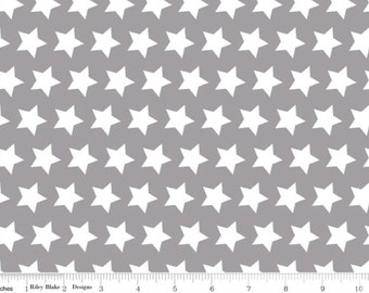Basic Gray Stars--One Yard- Riley Blake