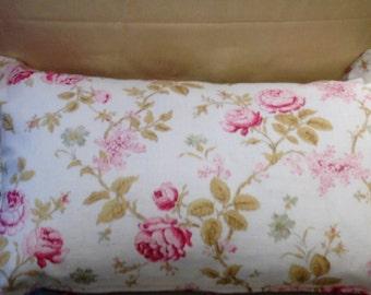 Gorgeous HandmadeFloral/Striped Linen cushion in Laura Ashley fabrics