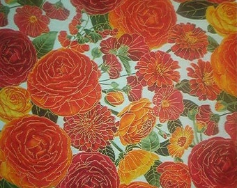 TIMELESS TREASURES of SoHo cotton fabric-quilt-ARCADIA-large flowers-peonies-by the yard