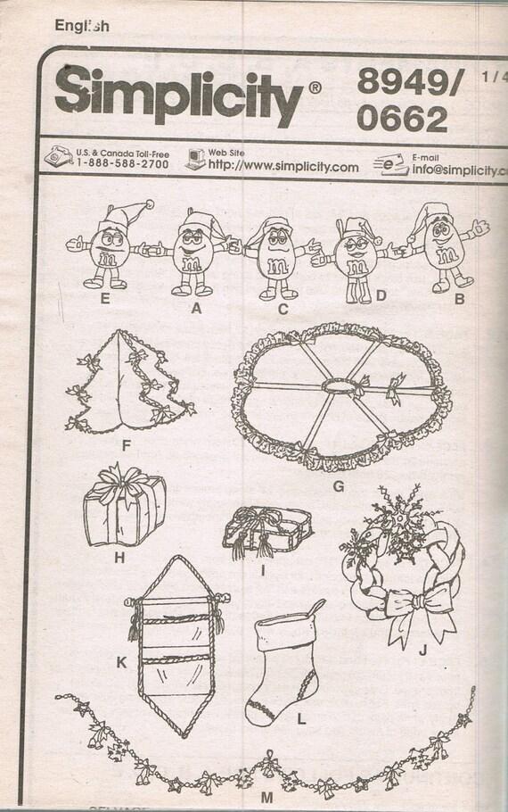 Arte costura patrón - M & M Navidad Casa Decor coser patrones ...