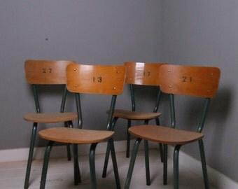 Children's Vintage Numbered Metal Legged Chairs - Children's Furniture