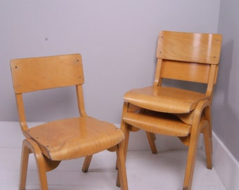 Children's Vintage Wooden Stackable Chair - Children's Furniture