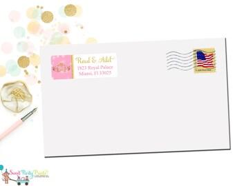 Gold Crown Princess Address Label ( GCPAL1 )