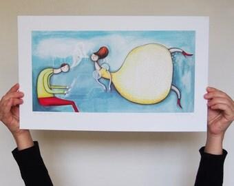 "Art, Print, ""Flight of delight"", Impression ""Envolée lyrique"""
