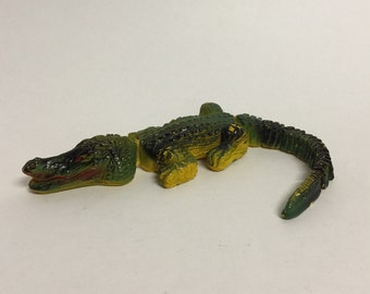 Vintage Crocodile Alligator Toy, Segmented Articulated Toy