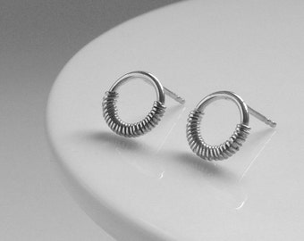 Wrapped Circle Studs