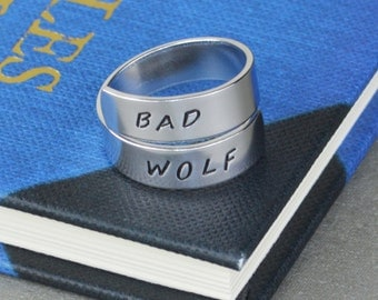 Bad Wolf Twist Ring -  Wrap Ring - Dr. Who