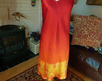 Silk Dress Tie Dye Silk Dress XL