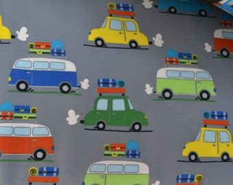 1/2 yd jersey, Knit-Jersey, buses,coach,cars (15,98 EUR/yd)