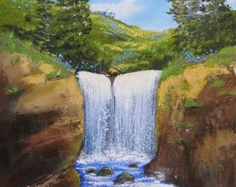 Little Gorge Falls - 12x16
