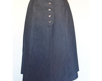 Vintage Jean Skirt Handmade Denim A-Line Skirt