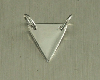Sterling Silver Triangle Stamping Link--Link Charm--Triangle Festoon--Blank Triangle--Linking Charm--Personalize a Festoon--Shape Charm
