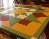 Barn quilt, Early Riser quilt block, exterior or interior art