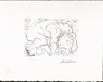 PABLO PICASSO - Vollard suite Plate 88 - mint hand numbered lithograph - c1973 (Arches paper. SPADEM, Paris)