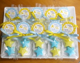 Twinkle Twinkle Little Star Baby Shower - Twinkle Star Baby Favors, Twinkle Little Star Baby Shower, Soap - Set of 10